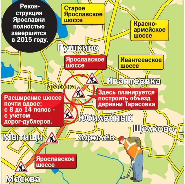 Опубликована схема расширения Ярославского шоссе.