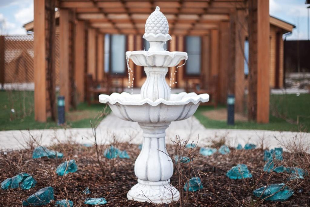 картинка с фонтаном