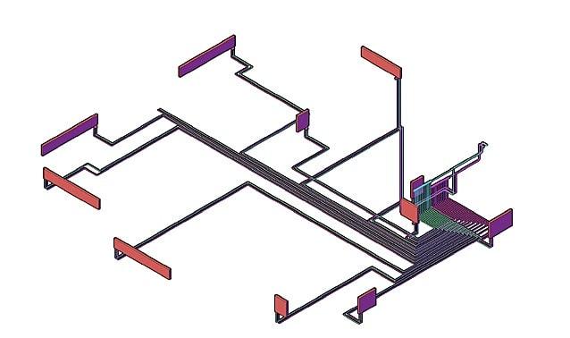Двухтрубная коллекторная (лучевая) разводка