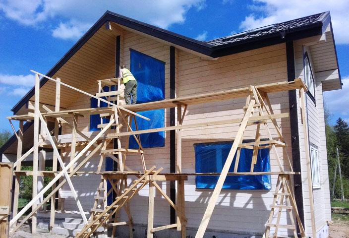 Установка строительных лесов