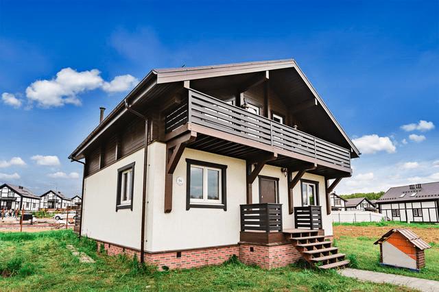 Вариант отделки комбинированных домов  - фото 2