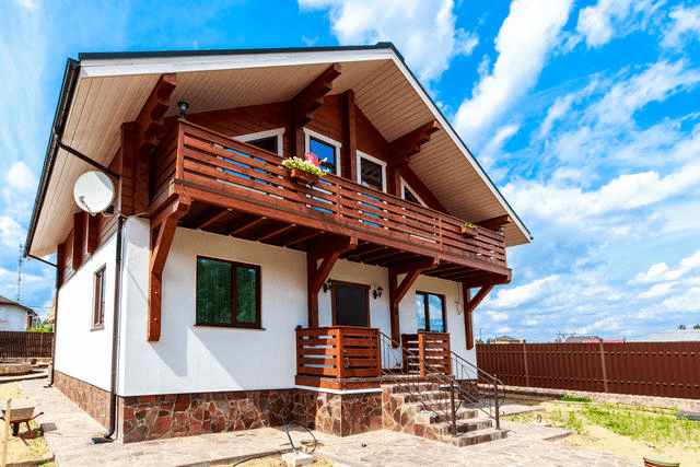Вариант отделки комбинированных домов  - фото 4
