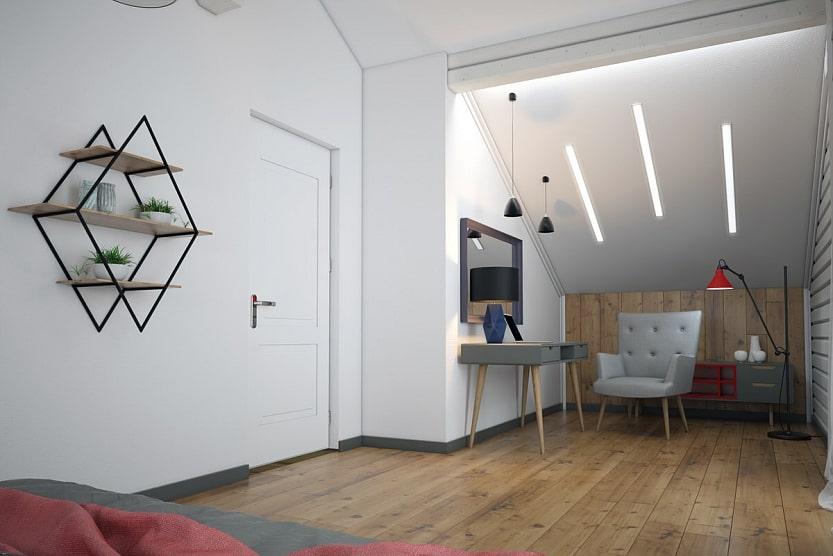 Ниша в спальне проекта «СП-185»