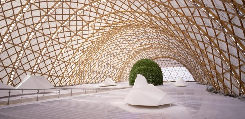 Павильон Японии, арх. Фрай Отто. Expo 2000. Ганновер, 2000 год