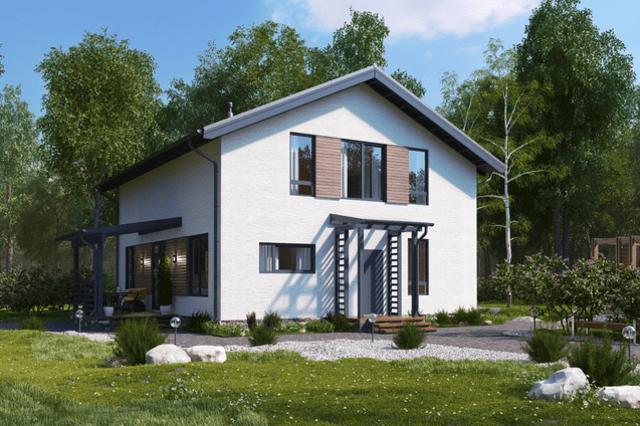 Вариант отделки комбинированных домов  - фото 3